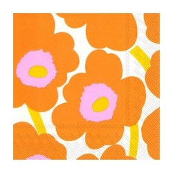 Lunch Napkins UNIKKO Orange - Marimekko