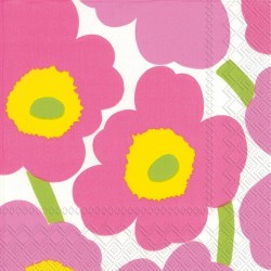 Serviettes Cocktail UNIKKO light pink - Marimekko