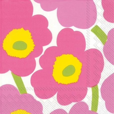 Serviettes C UNIKKO light pink - Marimekko