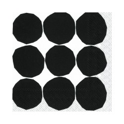 Serviettes Cocktail KIVET black white - Marimekko