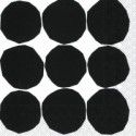 Cocktail Napkins KIVET black white - Marimekko