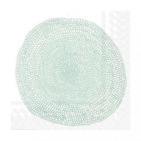 Serviettes L PIPPURIKERA white silver - Marimekko