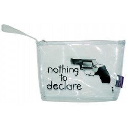 "Trousse avion transparente ""Nothing to declare"" - Incidence Paris"