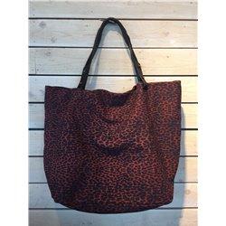 Clea Tote Bag Leopard Burnt - Petite Mendigote