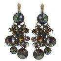 Boucles d'oreilles pendantes Waterfalls khaki/green - Konplott