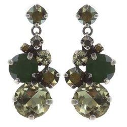 Boucles d'oreilles pendantes Ballroom green/brown - Konplott