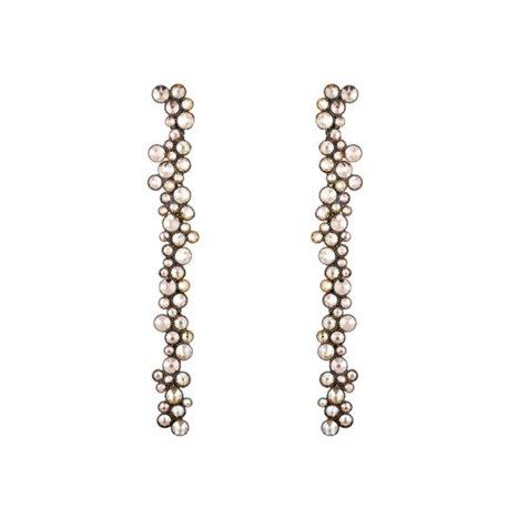 Boucles d'oreilles pendantes Inside Out beige - Konplott