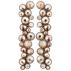 Earrings dangling Inside Out beige - Konplott