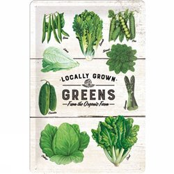 Tin Sign Greens - Nostalgic Art