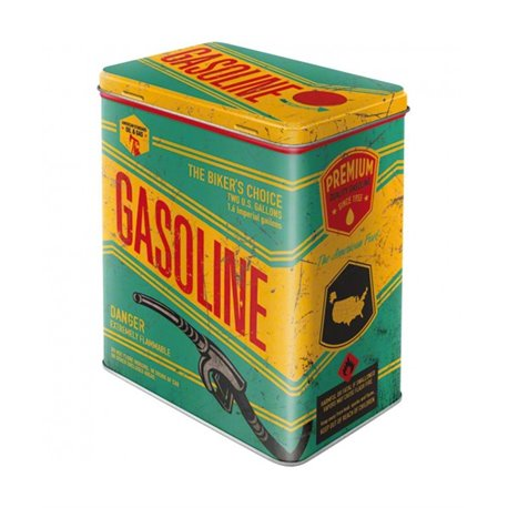 Boite métallique L Gasoline - Nostalgic Art