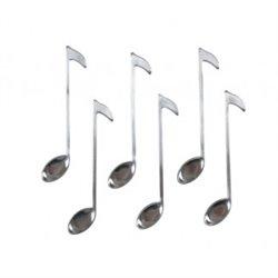 6 teaspoons 'note de musique' - La Chaise Longue