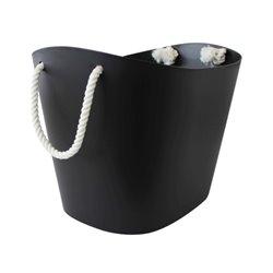 Large Black Balcolore Basket - Hachiman