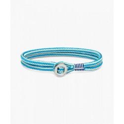 Bracelet Don Dino ivory light blue silver M/L - PIG & HEN