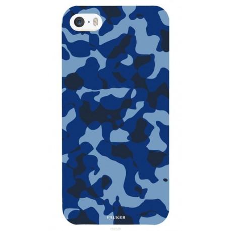 Coque I phone 5/5s Mil bleu -Pauker